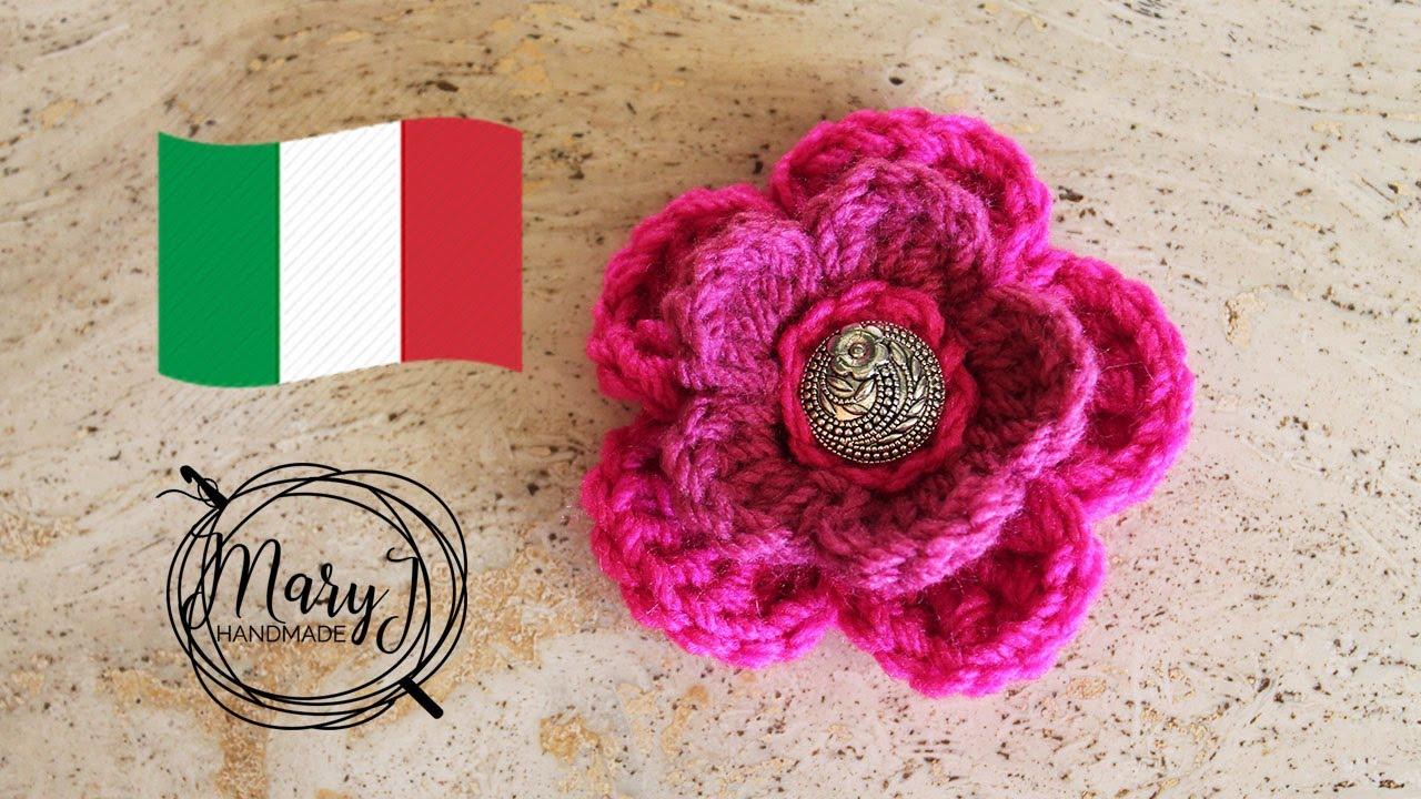 Fiore All Uncinetto 3d Maryj Handmade
