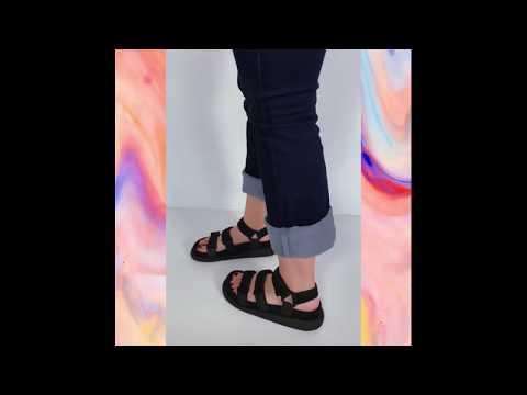 MARS sandália velcro - preto (vegan)
