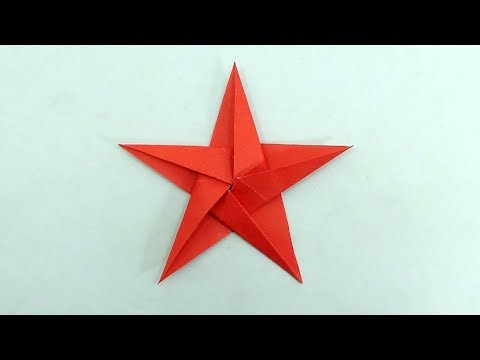 DIY Ideas: How To Make a Paper Ninja Star (Shuriken) - Paper Origami Shuriken - Easy Paper Spinner