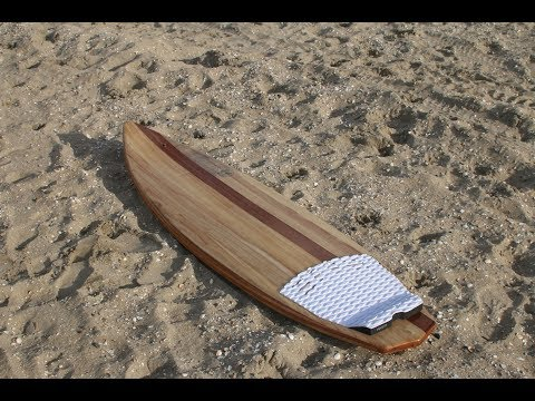 how to glass a wooden surfboard