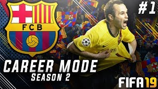FIFA 19 Barcelona Career Mode EP1 - Bringing Back Andres Iniesta!! Insane £300m Transfer Budget!!
