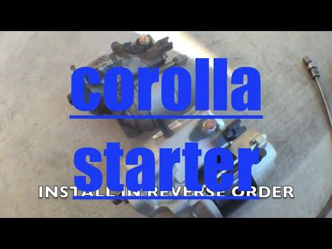 Replace Starter On 2003 Toyota Corolla Doovi