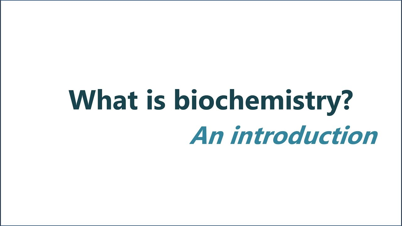 what is biochemistry? - youtube, Human Body