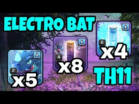 *ELECTRO DRAGON BAT SPELL ATTACK* EDRAG STRATEGY WRECKS TH11! | COC | CLASH OF CLANS