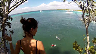 Cliff Jumping at Catalina Island in Dominican Republic 2013