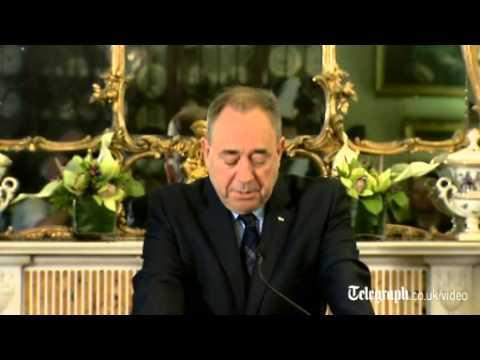 Alex Salmond announces his resignation