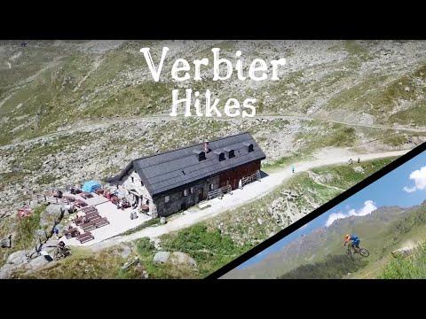 Hiking in the Swiss Alps | Verbier | Drone footage (4K) HD