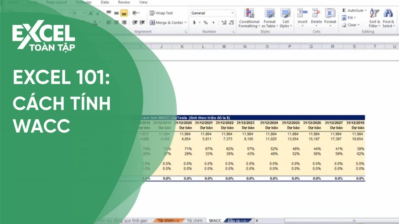 148. Cách tính WACC  | Khóa học phần mềm văn phòng Excel