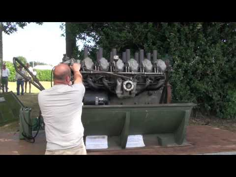 Great Sounding Continental M48 Battle Tank Engine.