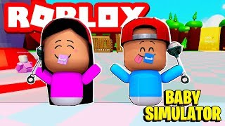 I GOT INTO A FIGHT WITH A BABY! - ROBLOX BABY SIMULATOR
