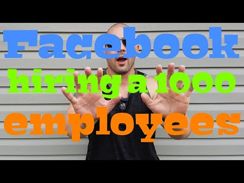 Facebook hiring a 1000 employees to review advertising.