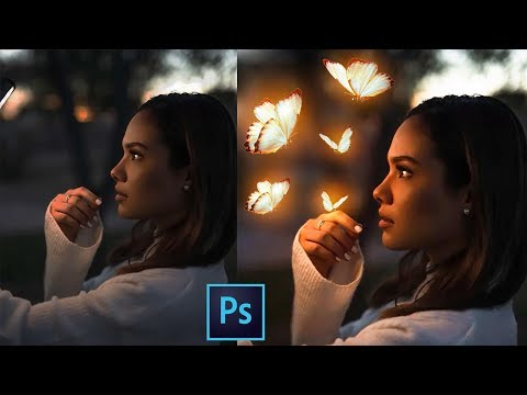How to Glow Objects Calob Castellon Photoshop CC Tutorial In Hindi thumbnail