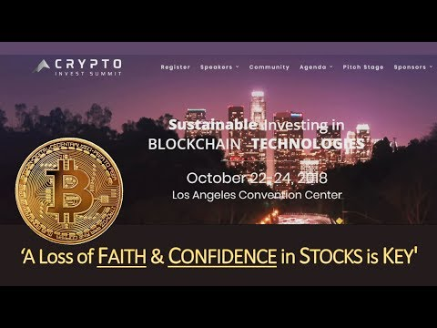 Bitcoin/Gold, A Loss of FAITH & CONFIDENCE in World STOCKS is 'KEY'! (Bo Polny)