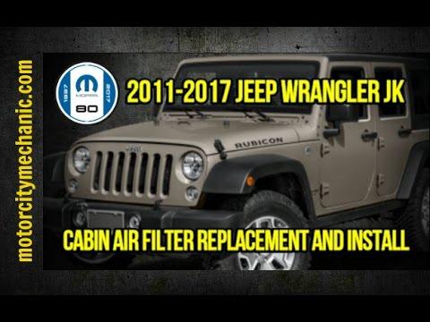 2011 2017 jeep wrangler jk cabin air filter replacement. Black Bedroom Furniture Sets. Home Design Ideas