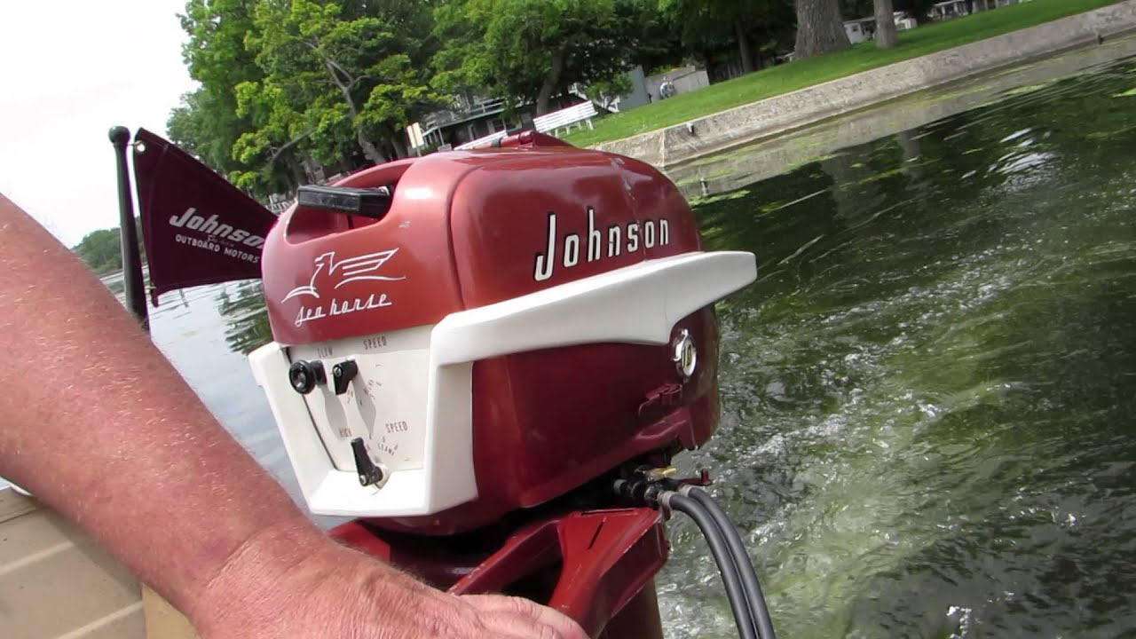 1956 johnson outboard 10hp doovi for Johnson marine italia
