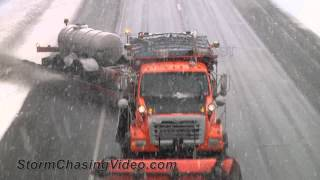 2/20/2014 Saint Cloud, MN Heavy Snow and Snow Plows B-Roll