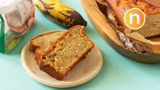 Banana Cake | Banana Bread (Healthy - Less sugar, less butter)