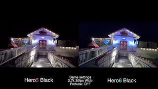 GoPro Hero6 vs Hero5 LOW LIGHT Test COMPARISON - GoPro Tip #600