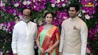 Rajinikanth, Soundarya and son-in-law Vishagan arrive in style @Akash Ambani-Shloka Mehta wedding: