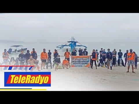 350 kilong basura nahakot sa underwater cleanup drive sa Boracay | TeleRadyo