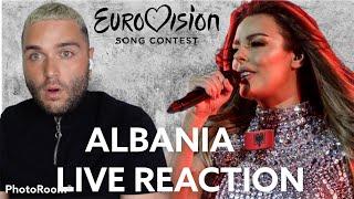 Albania Eurovision 2021 Live Reaction Anxhela Peristeri - Karma