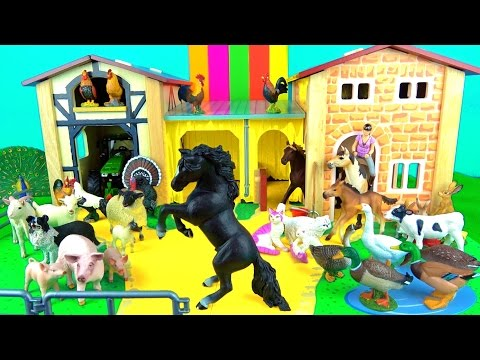 Learn Farm Animals - Educational Toys for Kids  - Horses, Pigs, Sheep