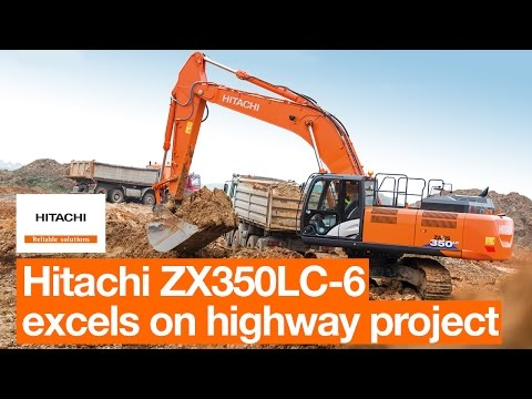 Hitachi ZX350LC-6 excels on highway project