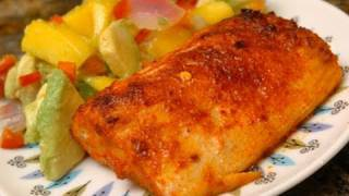 In The Kitchen With Ken - Sandia-peppered Mahi With Mango Salad
