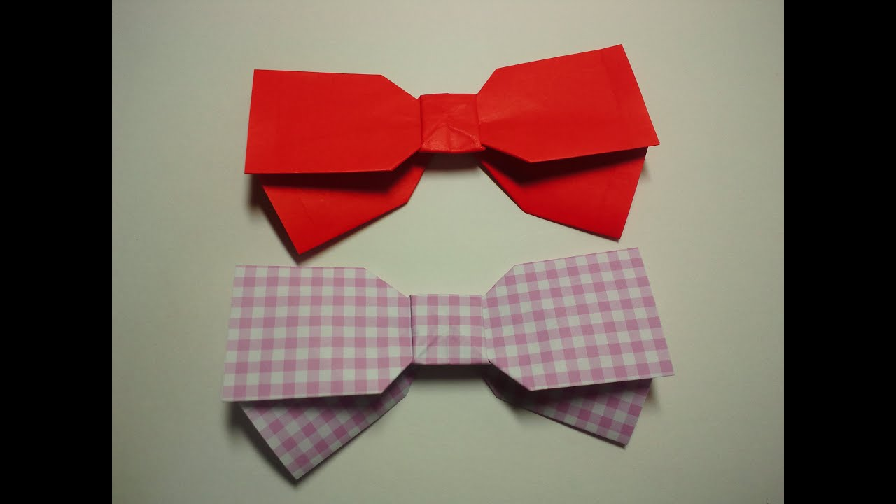 折り紙の 折り紙のリボンの作り方 : ... み雑貨-リボンの折り方- - YouTube