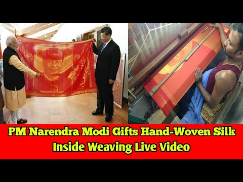 PM Narendra Modi Gifts Hand-Woven Silk Make a Weaving Live Video | Tamil 360