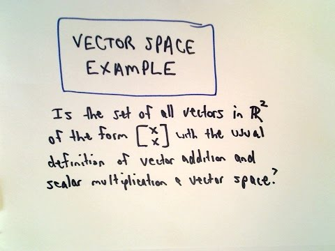 Vector Space - Yes Or No? Example 1