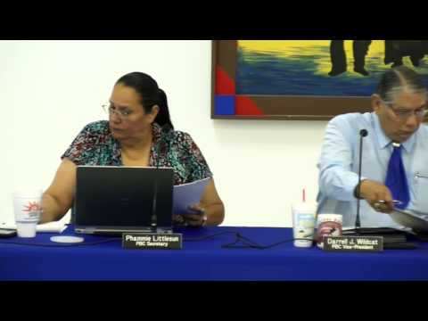 Pawnee Business Council Special Meeting - August 10, 2016