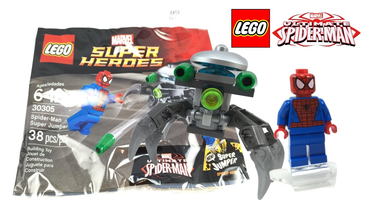 Lego Spiderman Malvorlagen Star Wars 1 Lego Spiderman: LEGO Spider-Man Super Jumper 2015 Polybag Review! 30305