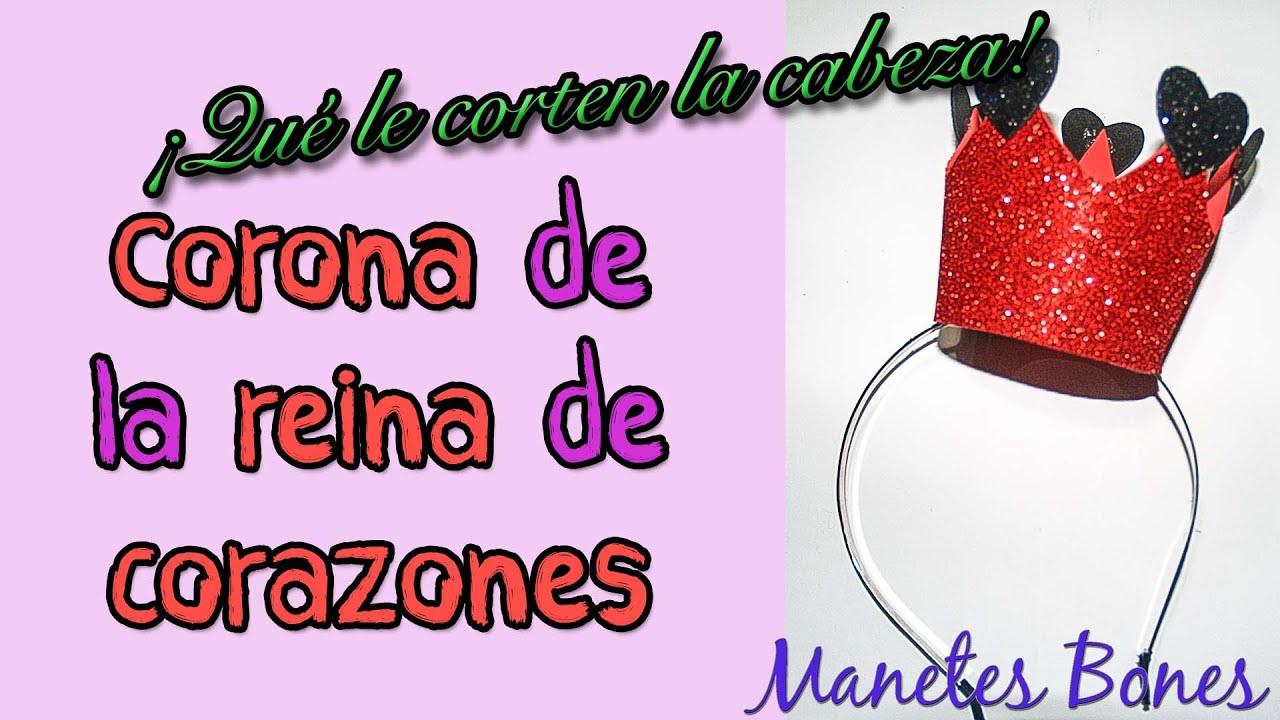 Corona de la Reina de Corazones en diadema con patrón | Tutorial DIY ...