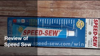 Review of Speed Sew Fabric Adhesive/ Dritz Liquid Stitch Fabric Mender