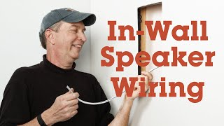 How to run wires for in-wall speakers  Crutchfield video