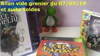 Bilan Vide grenier du 07/07/2019 et suite soldes été 2019 jeux vidéo