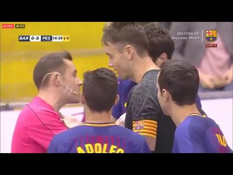 Jogo Completo Barcelona 3 x 1 Pescara- 3ª Rodada UEFA Futsal Cup 2017/2018 (25/11/2017)