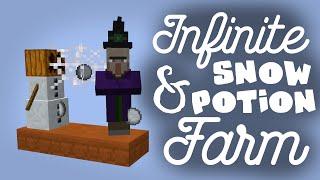Infinite Snow & PVP Potion Farm! - Minecraft 15w49a