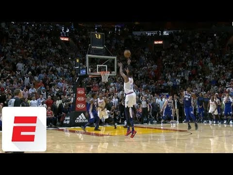 Dwyane Wade hits game-winning shot in Ben Simmons' face | ESPN