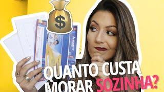 QUANTO EU GASTO MORANDO SOZINHA?! | Camila Lima