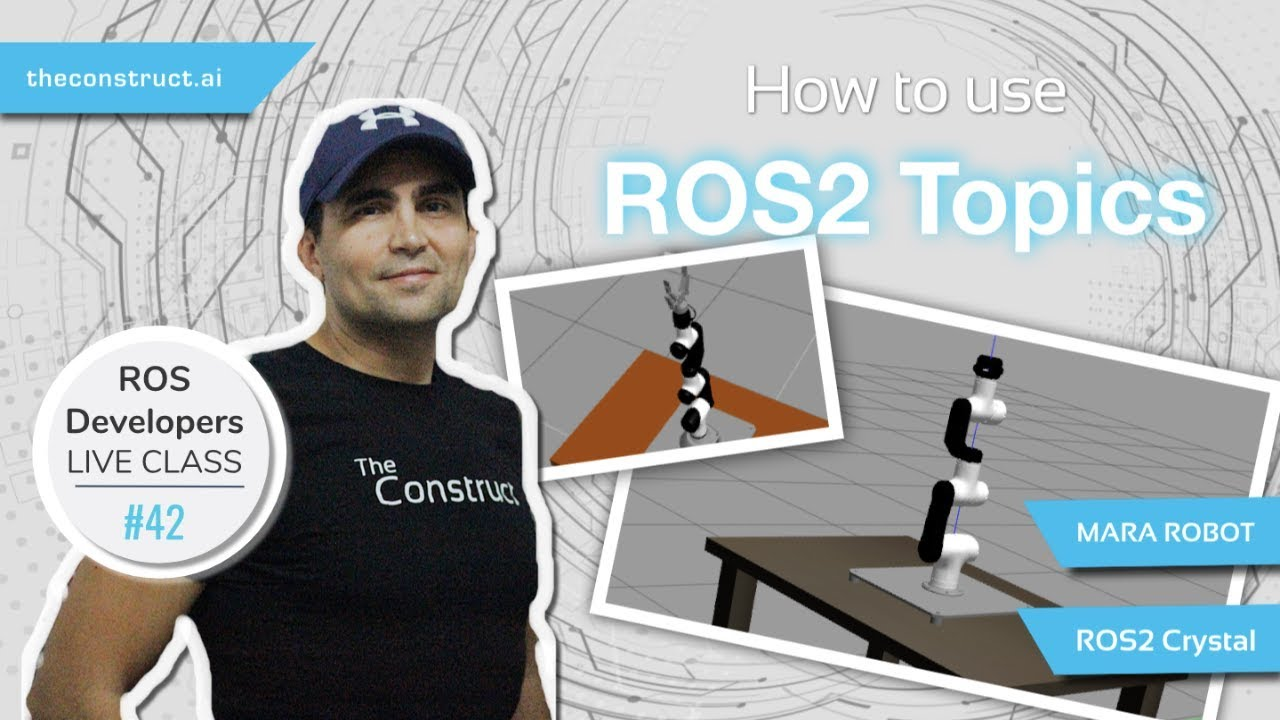 ROS Developers LIVE-Class n 42: How to use ROS2 Topics (Crystal