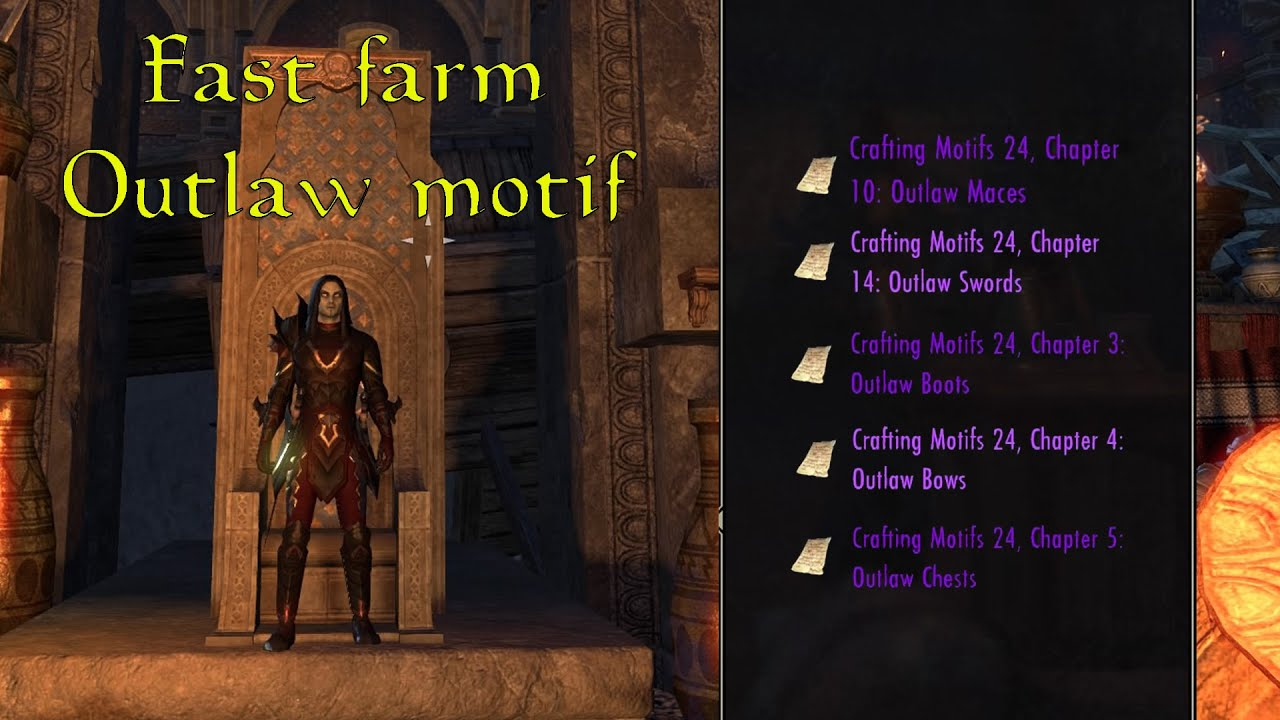 Crafting Motifs In Eso Thieves Guild
