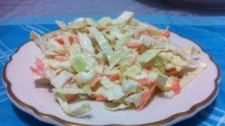 Receta : Ensalada De Col Y Zanahorias ( Coleslaw Recipe )