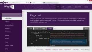 Introduction of winJS in Visual Studio