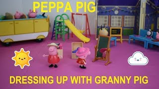 Peppa Pig Dressing Up With Granny Pig Playset