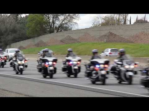 Rocklin, CA 3/4/17: Funeral Procession for CHP Officer Lucas Chellew #19402 EOW 2/22/17