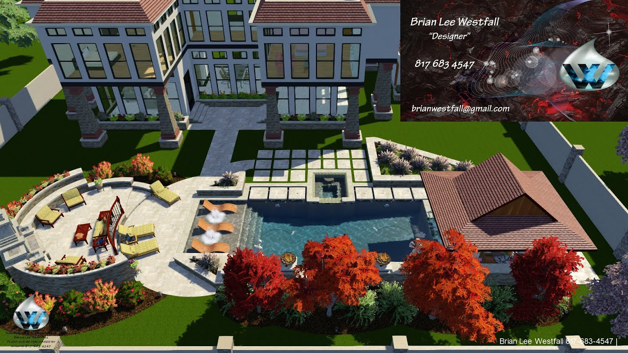 Swimming pool awesome elegant beautiful structure studios for 3d pool design software free download
