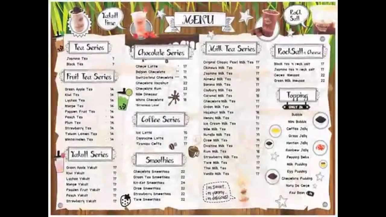 Menu Of Taiwan Tea House Indonesia - YouTube