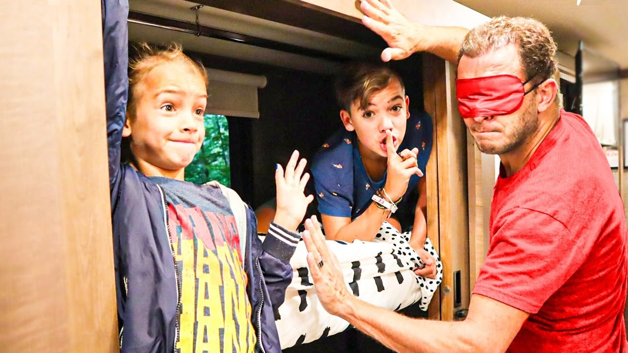 Download Last to get Caught gets $$! Blindfold Hide & Seek In The RV!!